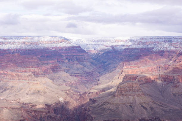 The Grand Canyon In The Winter stock photo