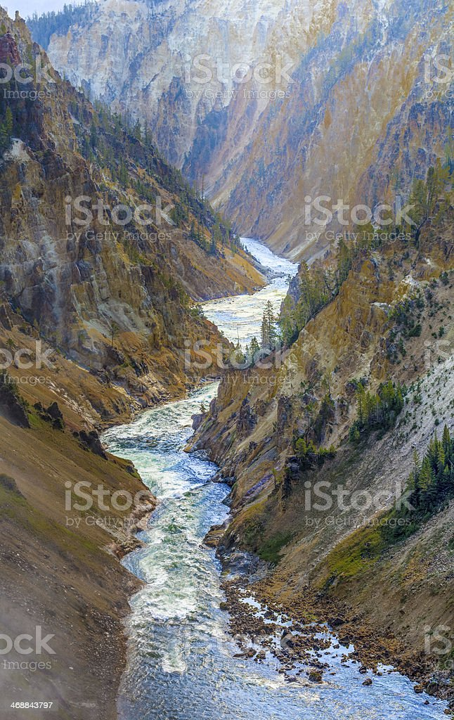 The Grand Canyon of Yellowstone National Park, Wyoming stock photo