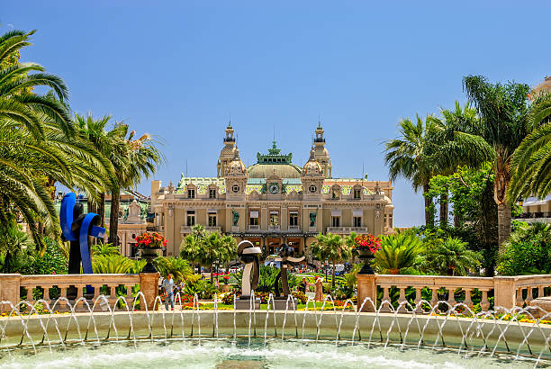 The Grand casino in Monti Carlo on a cloud free day stock photo