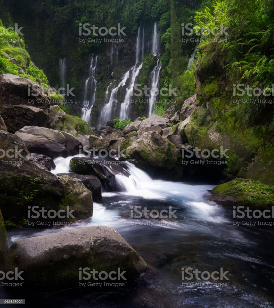 The Grand Galet Falls in Saint-Joseph on Reunion Island royalty-free stock photo