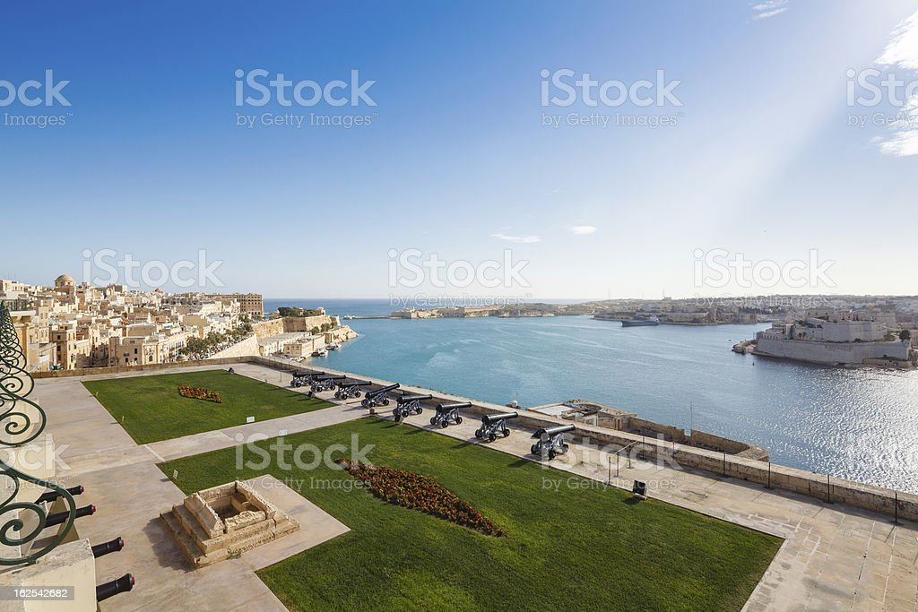 The Grand Harbour stock photo