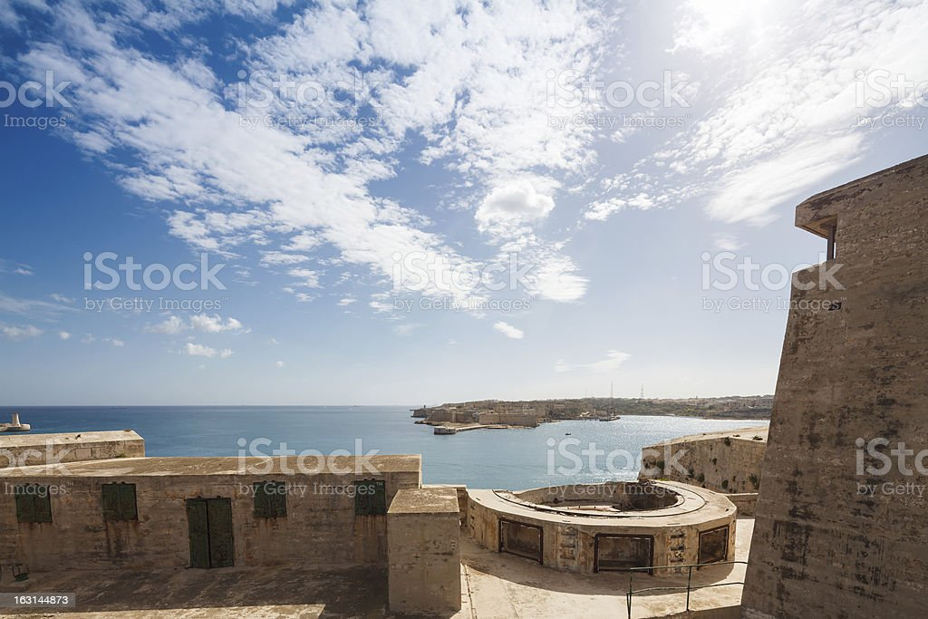The Grand Harbour royalty-free stock photo