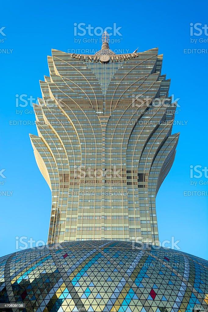 The Grand Lisboa, Macao stock photo