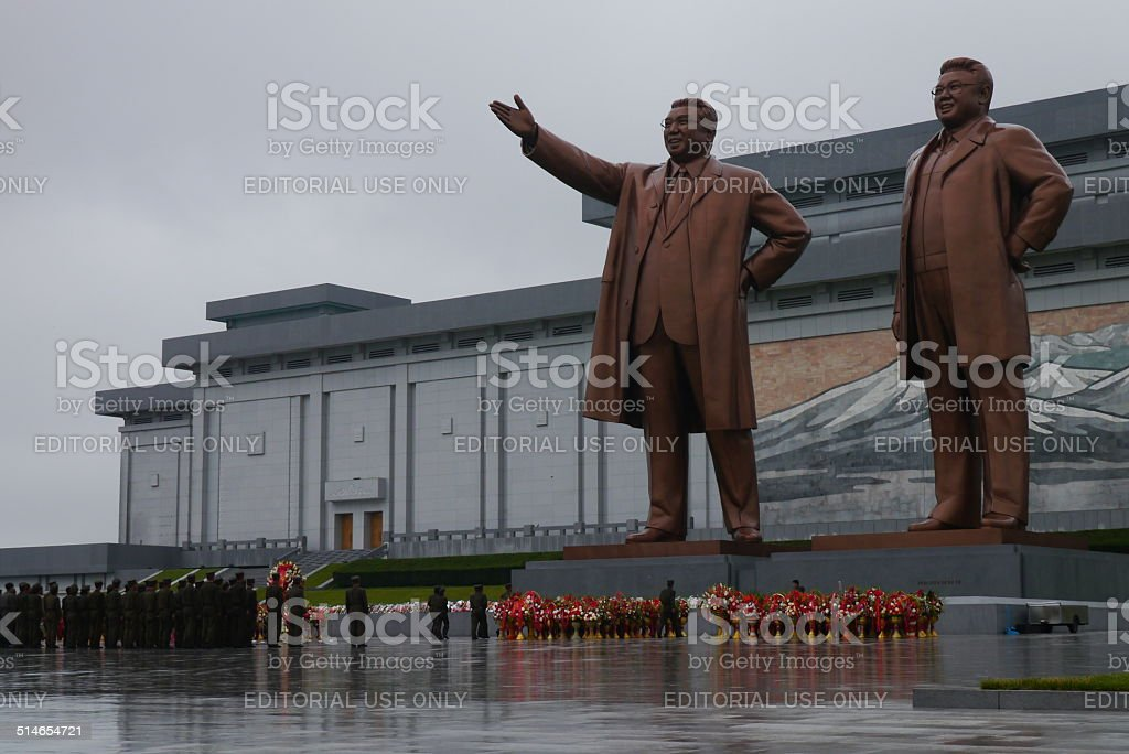 The Grand Monument in Pyongyang North Korea stock photo