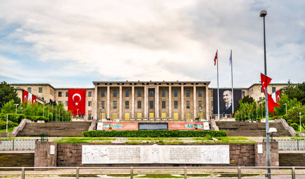 The Grand National Assembly of Turkey in Ankara stock photo