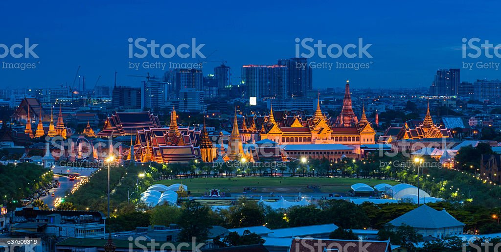 The Grand Palace Thailand stock photo