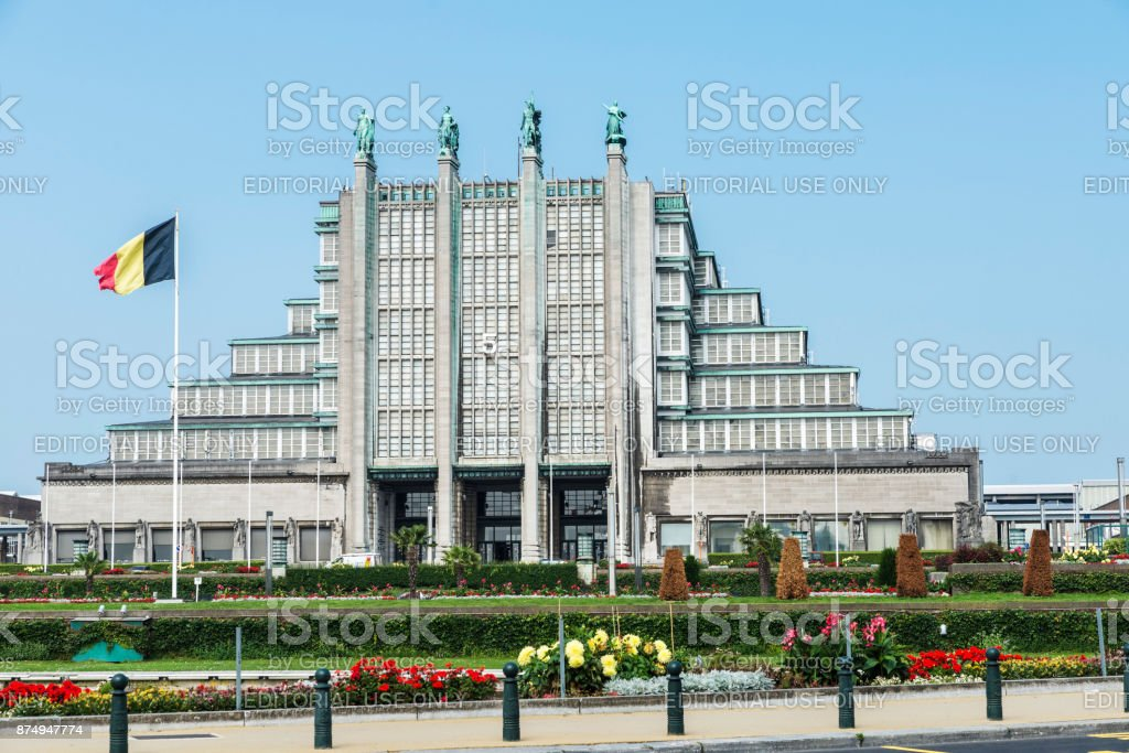 The Grand Palais, the Great Pavilion in Brussels, Belgium stock photo
