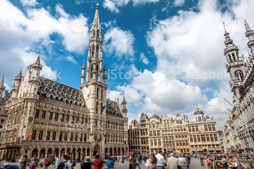 The Grand Place in Brussels, Belgium stock photo