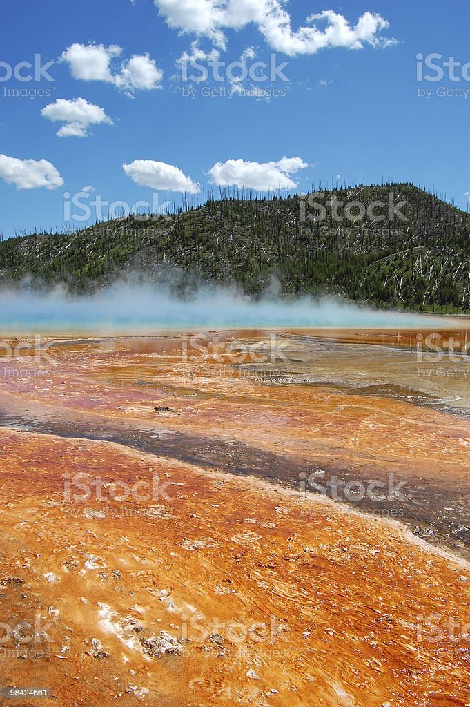 Grand Prismatic Spring al Parco Nazionale di Yellowstone foto stock royalty-free
