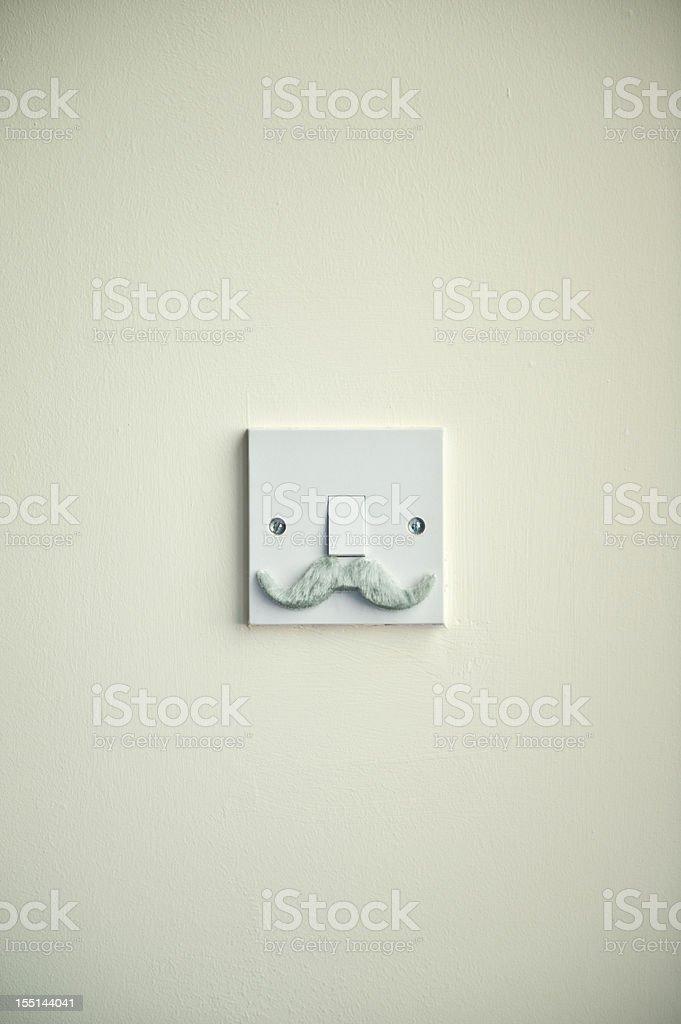 The Grandpa Mustache Light Switch royalty-free stock photo