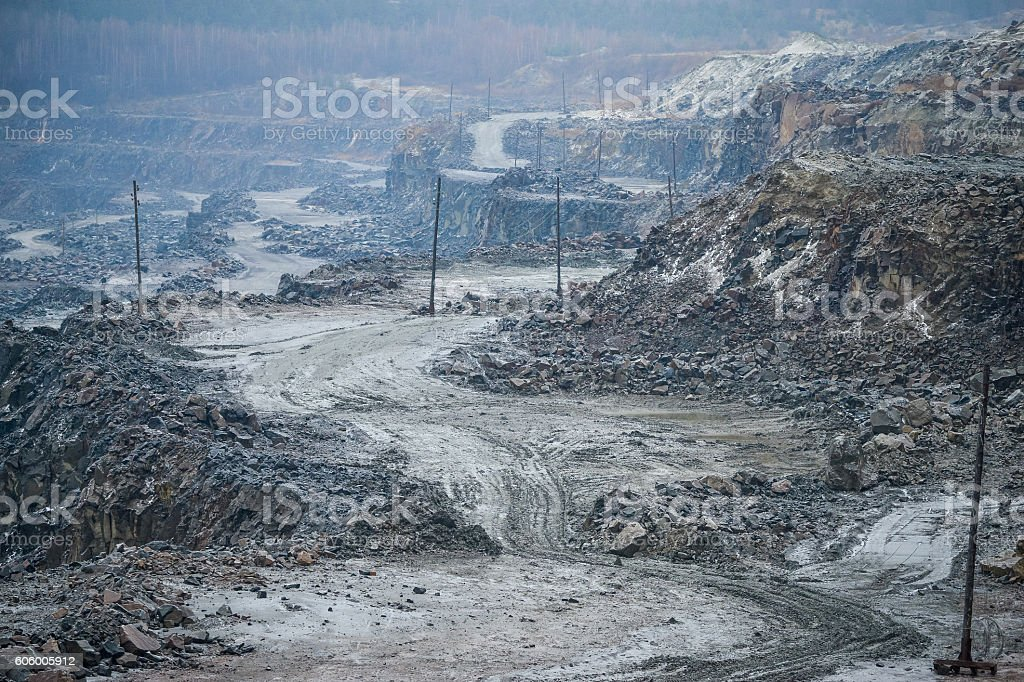 The granite in career outdoors stock photo