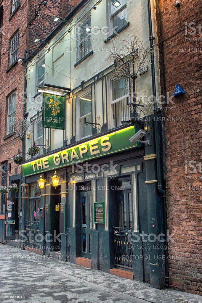 The Grapes pub on Mathew Street Liverpool stock photo