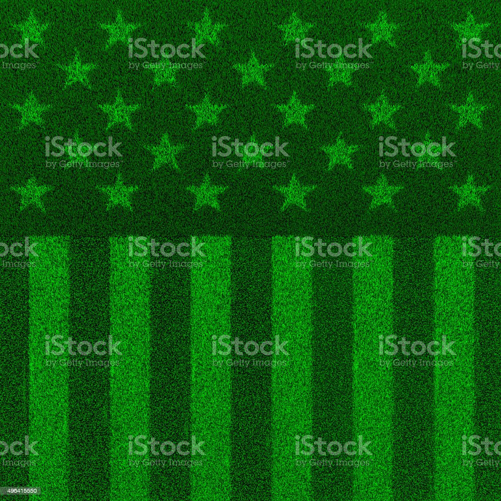 The grass and stripes stock photo