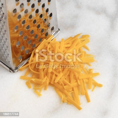 The Grated Cheese Stock Photo & More Pictures of Block Shape