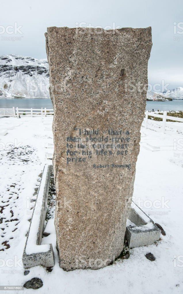 Ernest Shackleton Grave