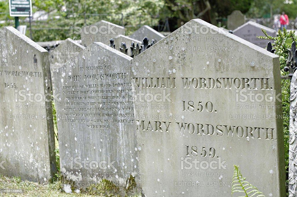 The grave of William Wordsworth stock photo