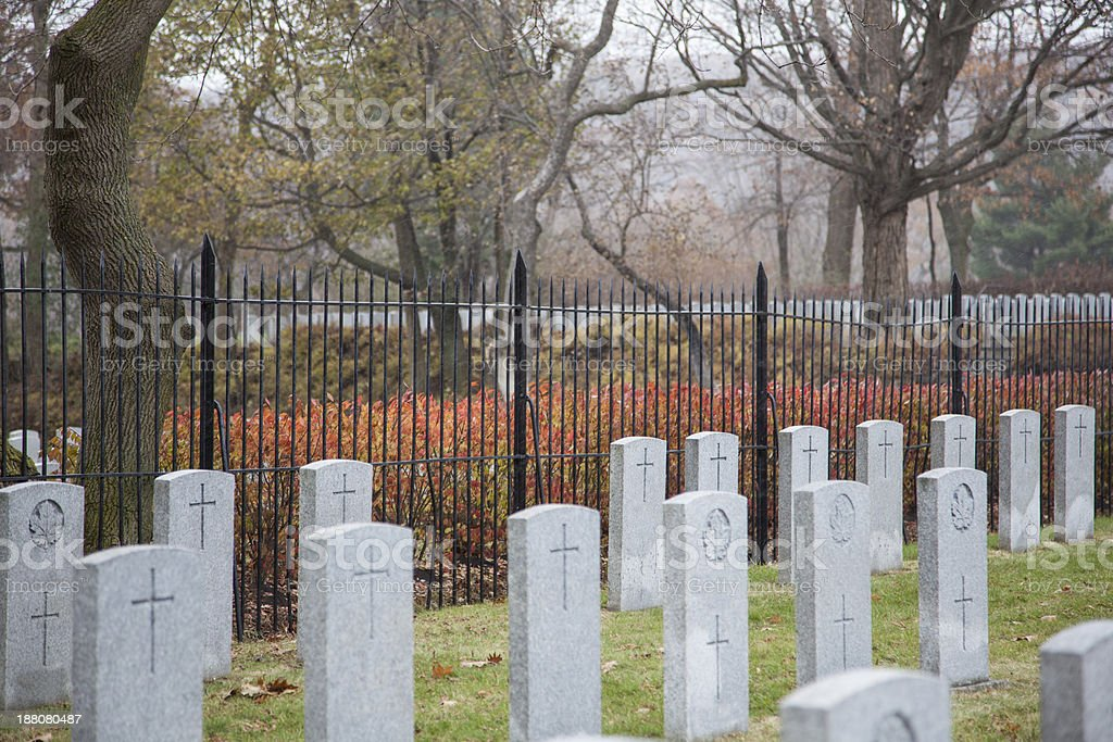 the graves of soldiers royalty-free stock photo