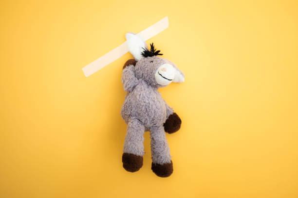 Das graue Esel Plüschtier – Foto