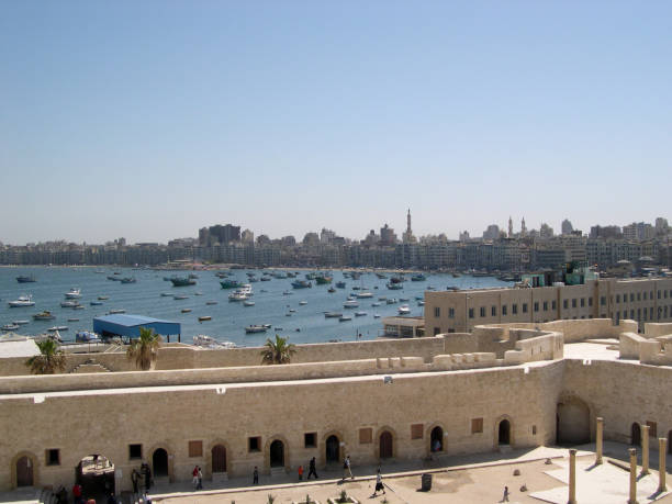 The Great Bay of Alexandria, Egypt, one of the longest in the world