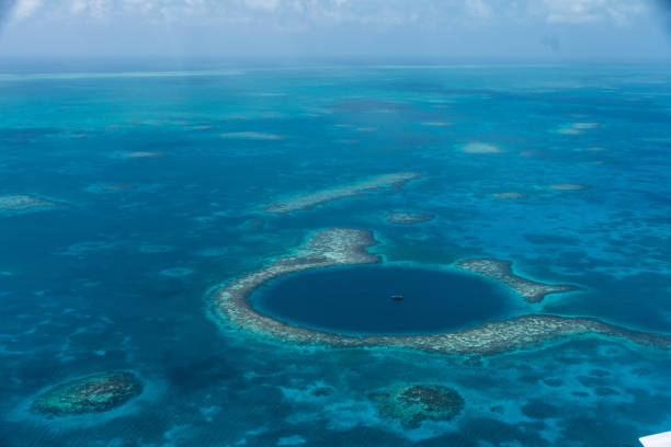 The Great Blue Hole, Belize stock photo
