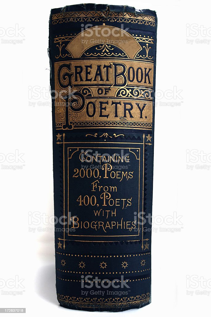 The Great Book of Poetry stock photo