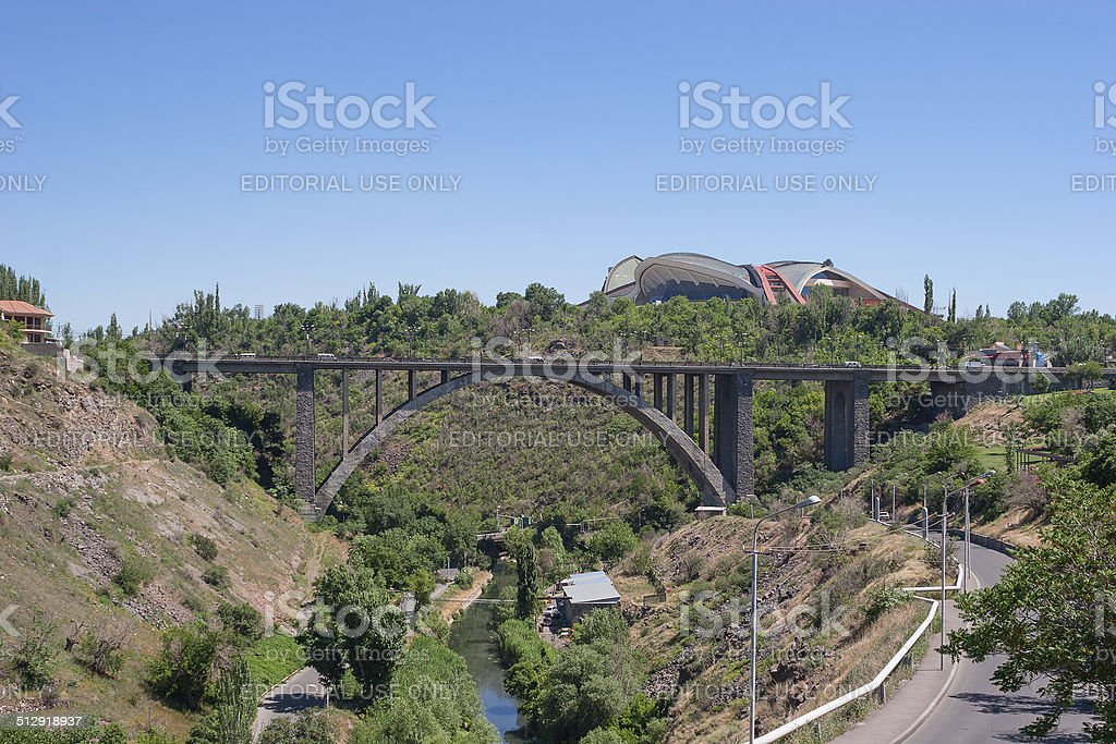 The Great Bridge of Hrazdan, Yerevan, Armenia royalty-free stock photo