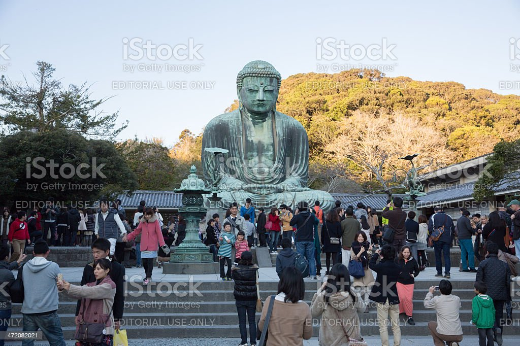 The Great Buddha in Kamakura, Japan stock photo