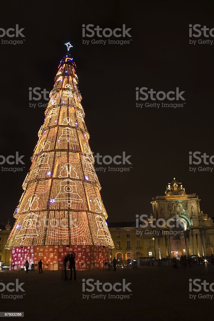 The Great Christmas Tree Of Light royalty-free stock photo