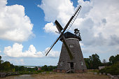 The great Dutch windmill on the island of Usedom, Germany .