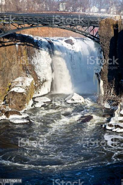 Photo of The Great Falls National Historical Park, Paterson New Jersey. In Winter