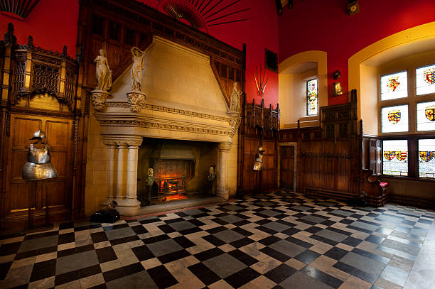 the great hall of edinburgh castle - kasteel stockfoto's en -beelden