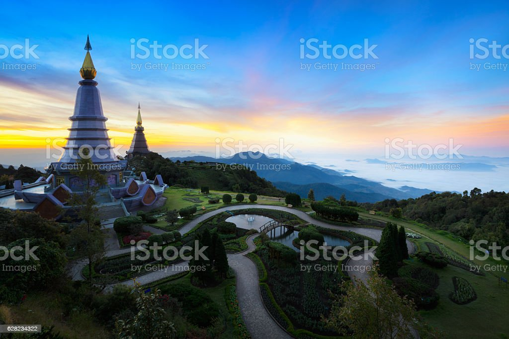 The Great Holy Relics Pagoda stock photo