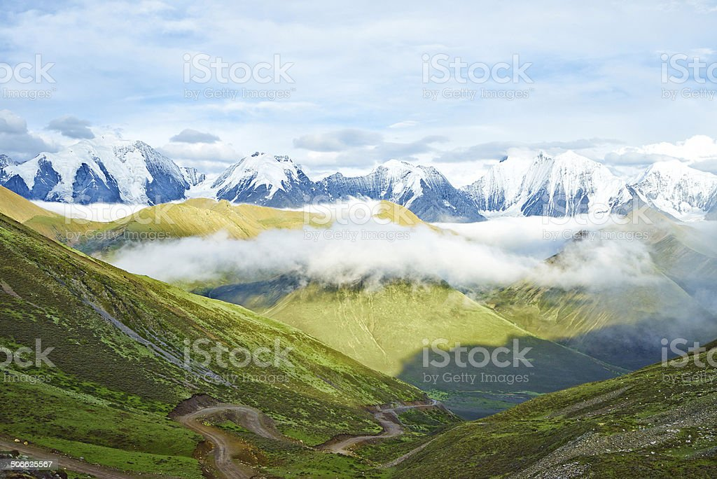 The great jokul in the summer of China stock photo