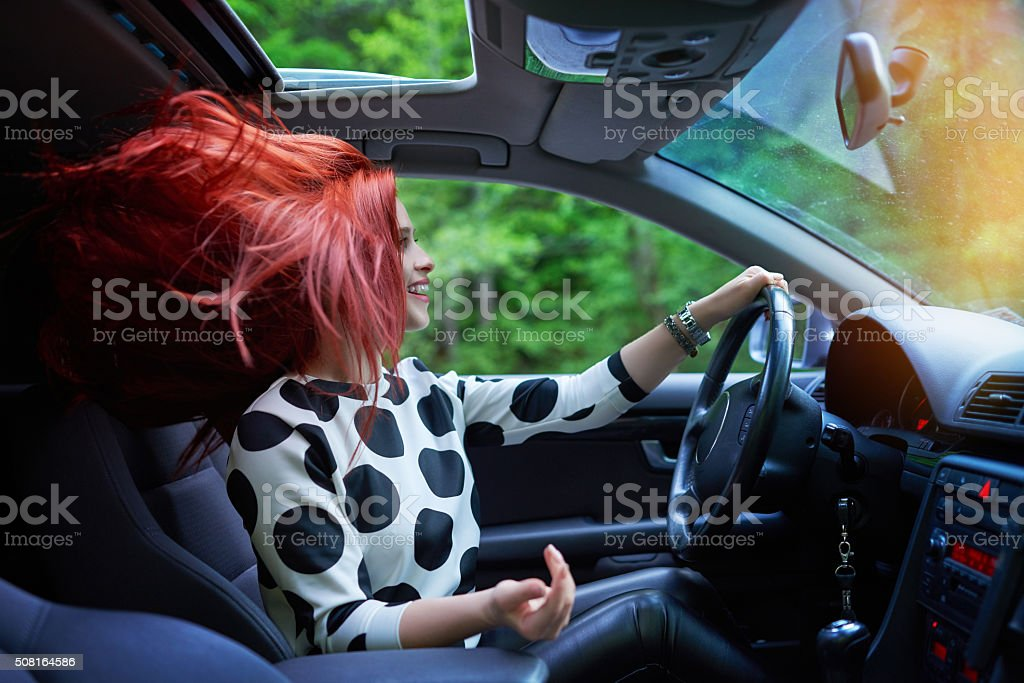 the great joy of driving a car stock photo