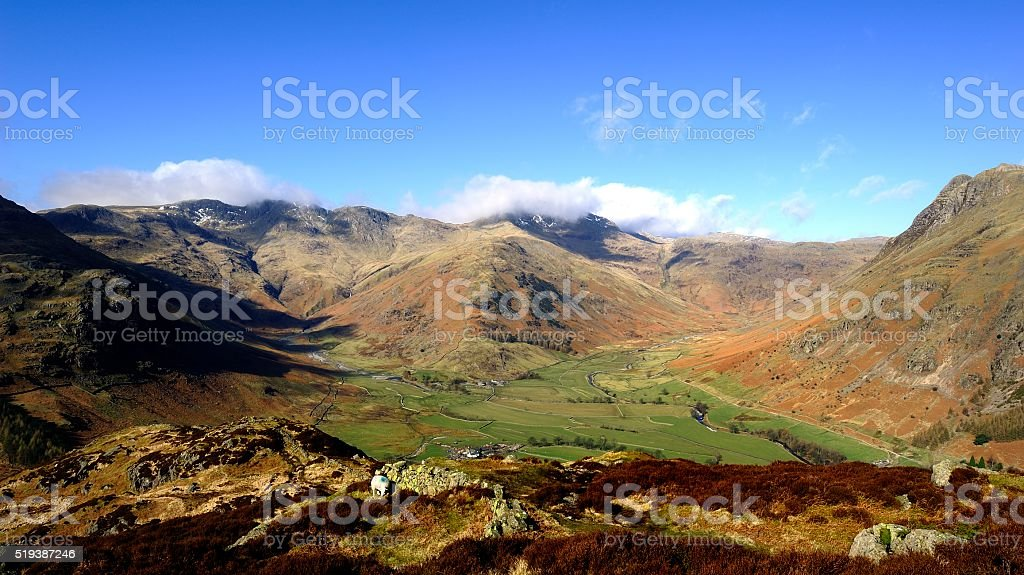 The Great Langdale Fells stock photo