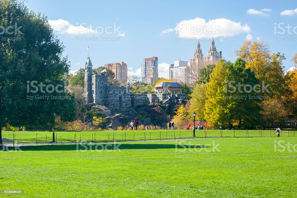 The Great Lawn in Central Park stock photo
