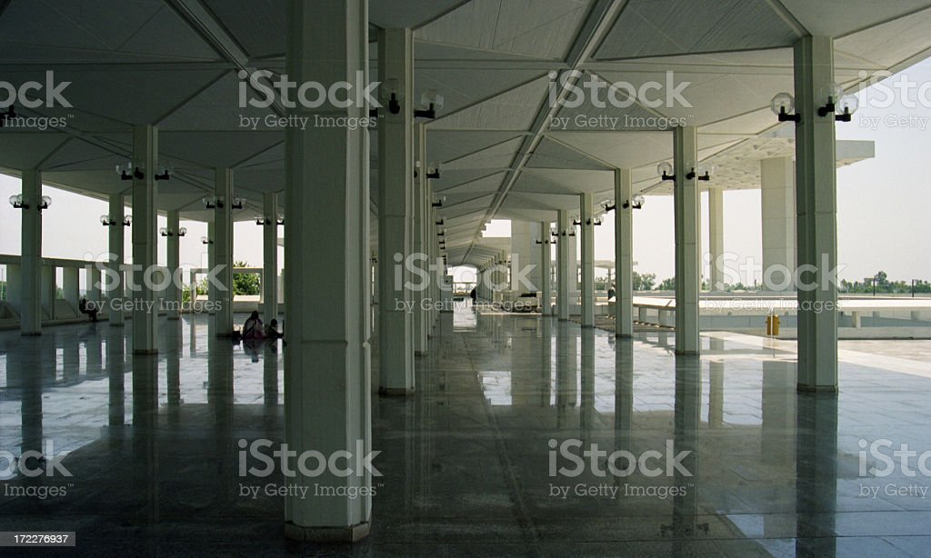 The Great Mosque in Islamabad stock photo
