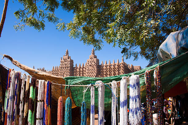 The Great Mosque of Djenné, Mali (Africa). stock photo