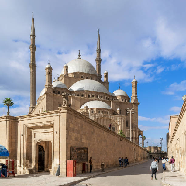 The great Mosque of Muhammad Ali Pasha - Alabaster Mosque - Citadel of Cairo, Egypt stock photo