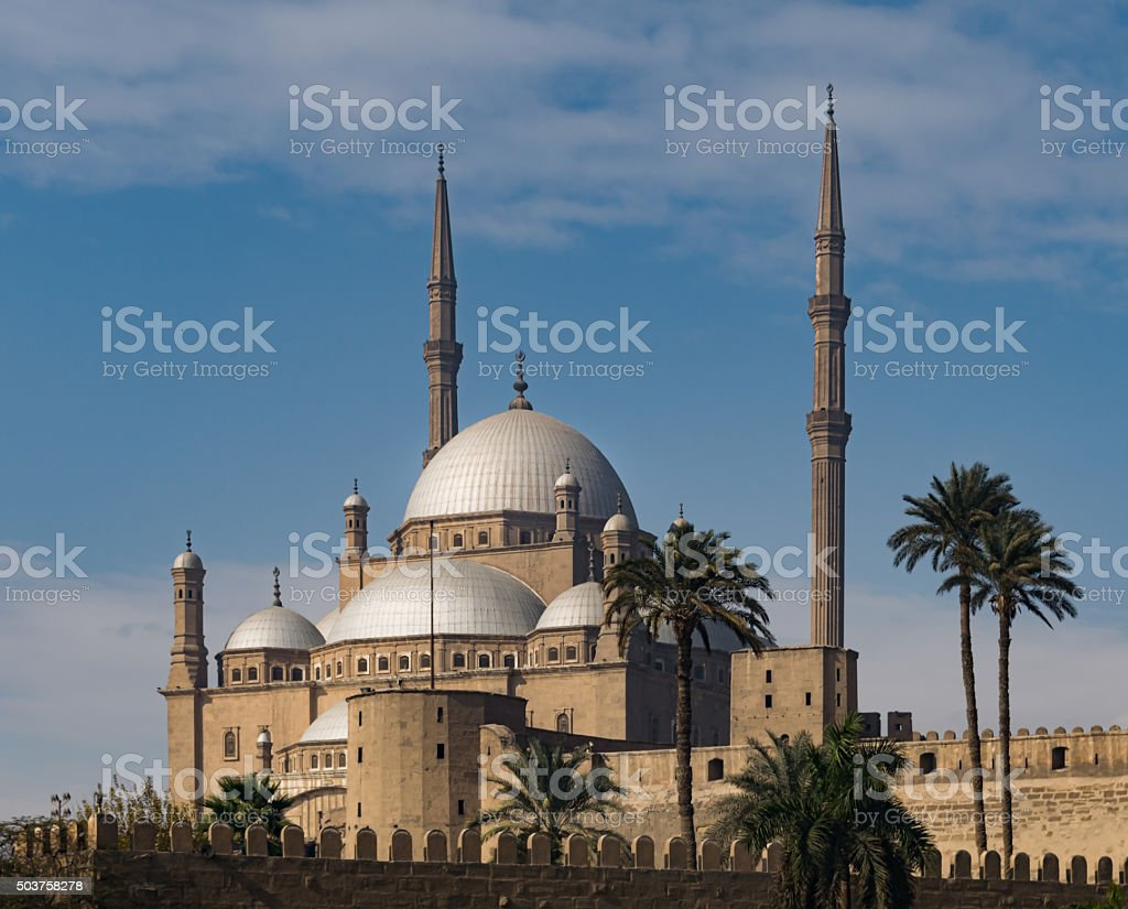 The great Mosque of Muhammad Ali Pasha, Cairo, Egypt stock photo