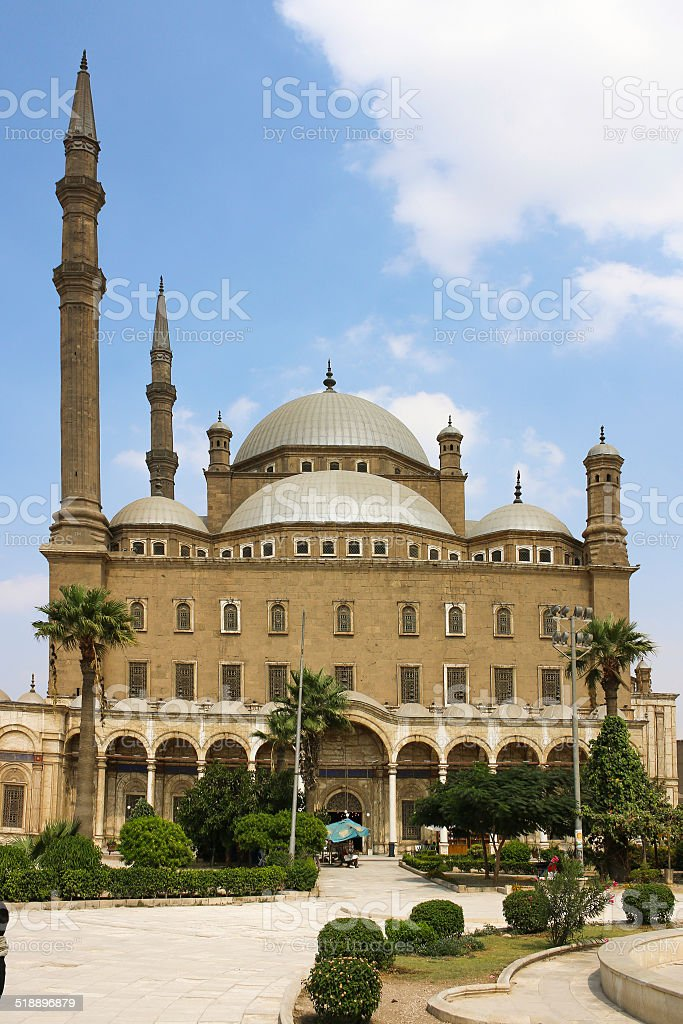 The great Mosque of Muhammad Ali Pasha.  Egypt stock photo
