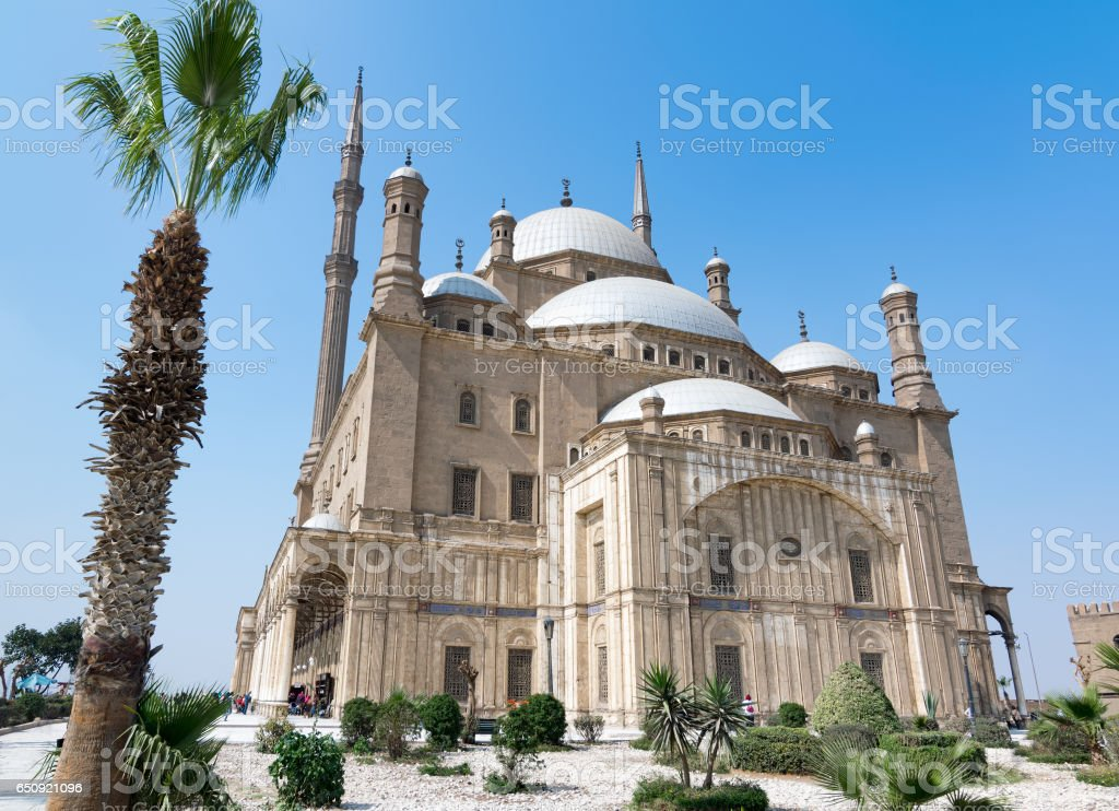 The great Mosque of Muhammad Ali Pasha (Alabaster Mosque), situated in the Citadel of Cairo, Egypt stock photo