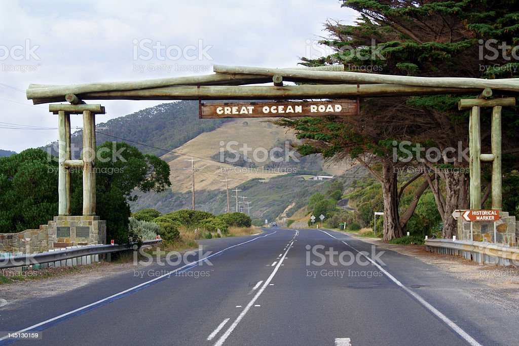 The great Ocean road stock photo