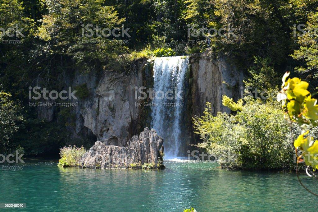 The Great Plitvice waterfall in Croatia Europe foto de stock royalty-free