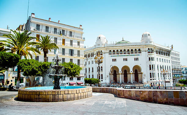 la grande poste à alger - algeria stock photos and pictures