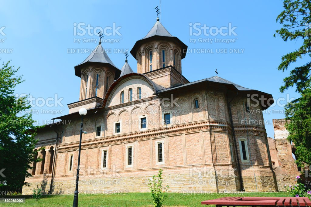 The Great Princely Church in Targoviste, Dambovita, Romania stock photo
