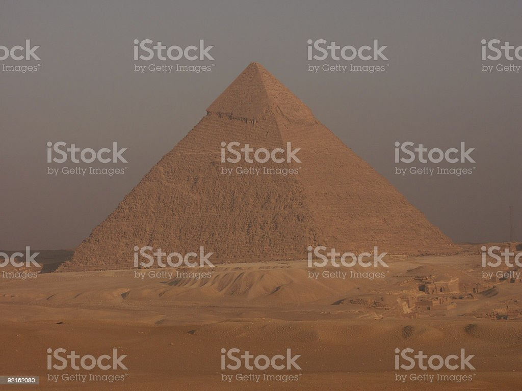 The great pyramid of Chefren stock photo