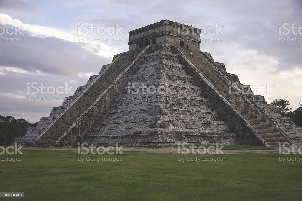 The Great Pyramid of Chichen Itza stock photo