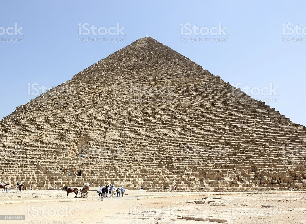 The Great Pyramid of Giza, Cairo. royalty-free stock photo