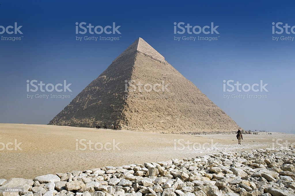 The great pyramid of Giza in Cairo, Egypt stock photo